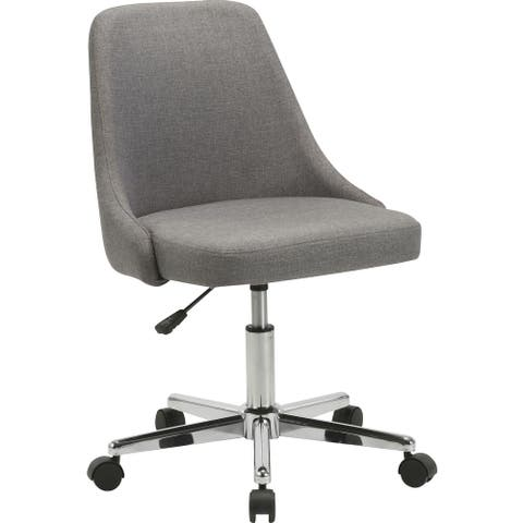 "Lorell Task Chair - 22.5"" x 24.4"" x 31.5"" - Material: Fabric, Chrome Base - Finish: Gray"
