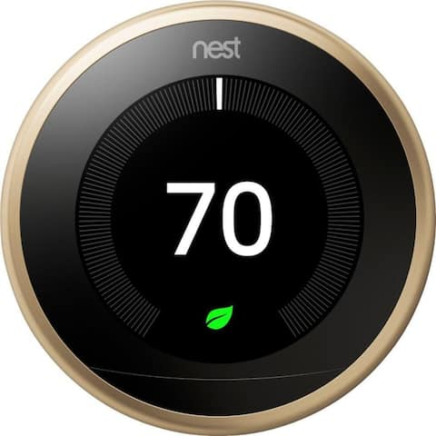 Google Nest Learning Thermostat 3rd Generation - Brass