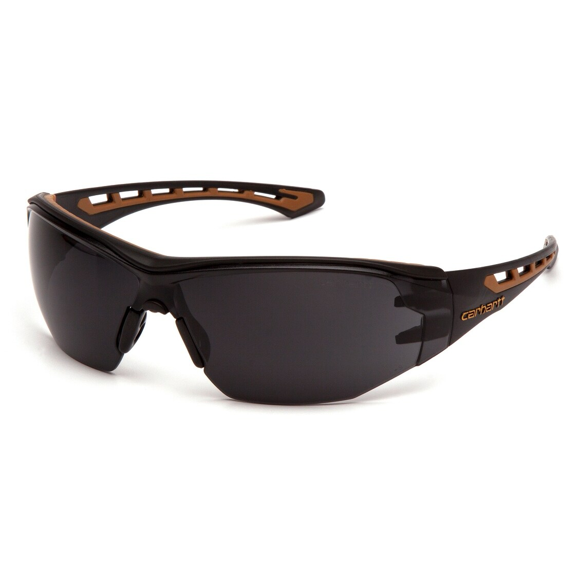 Carhartt CHB820ST Easley Gray Anti-Fog Lens Safety Glasses with Black/Tan Frame