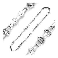 Stainless Steel Bicycle Chain Style Multi Link Necklace (8 mm) - 24 in