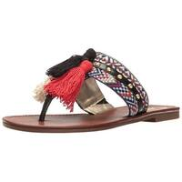 Circus by Sam Edelman Womens Brice Fabric Split Toe Casual Slide Sandals
