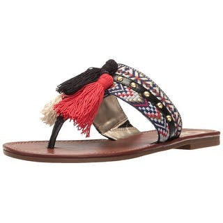 d3f69b83bbb Circus by Sam Edelman Womens Brice Fabric Split Toe Casual Slide Sandals
