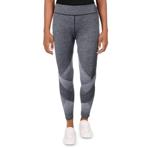 Splendid Women's Heathered Colorblock Quick Dry Activewear Fitness Leggings