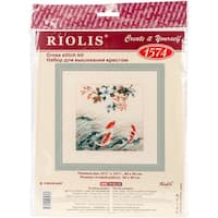 """Dancing Fish Counted Cross Stitch Kit-15.75""""X15.75"""" 14 Count"""