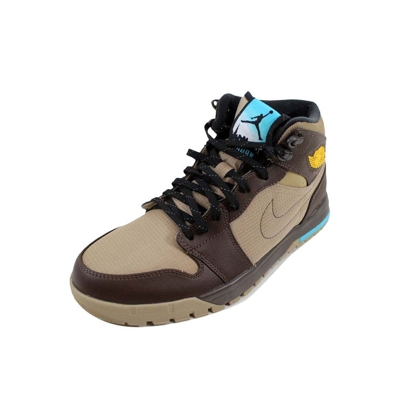 b4d1a116b9 Shop Nike Men's Air Jordan I 1 Trek Khaki/Varsity Maize-Baroque ...