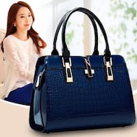 Big Bags Women Cowhide Handbag Bag Shoulder Bag Vintage Crocodile