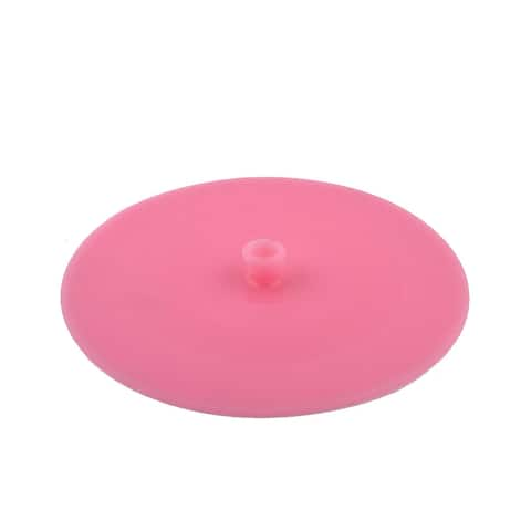 Home Silicone Cooking Food Storage Bowl Cover Wrap Suction Lid Pink 13.5cm Dia