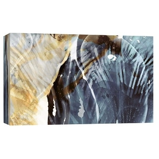 """PTM Images 9-102219  PTM Canvas Collection 8"""" x 10"""" - """"Aquatic Impressions I"""" Giclee Abstract Art Print on Canvas"""