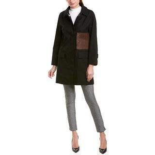 Link to Burberry Monogram Leather-Trim Coat Similar Items in Women's Outerwear
