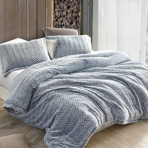 Cozy Peaks - Coma Inducer Oversized Comforter - Chevron Frosted Navy