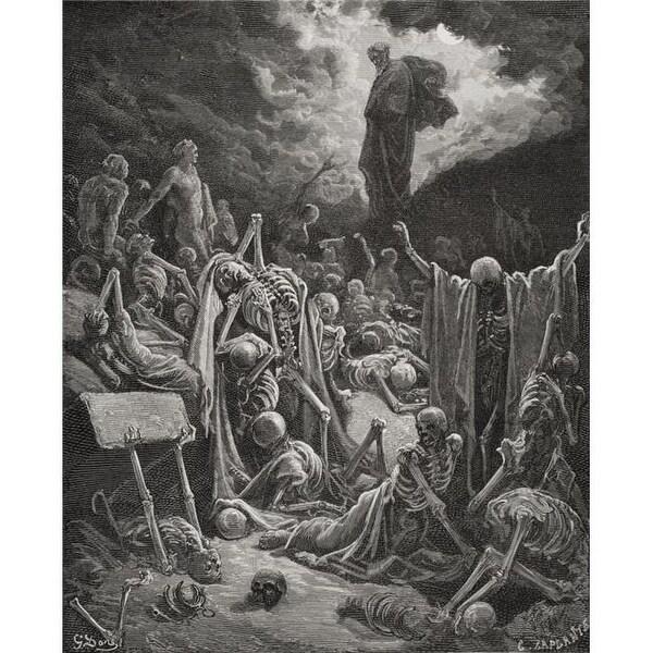 Shop Engraving From The Dore Bible Illustrating Ezekiel Xxxvii 1 2