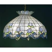 "Meyda Tiffany 31209 5 Light 20"" Wide Pendant with Handmade Shade"