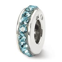 Sterling Silver Reflections March Single Row Swarovski Elements Bead (4mm Diameter Hole)