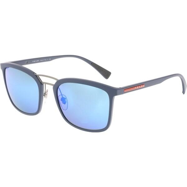 674ab8b86fbe ... official store prada mirrored linea rossa ps03ss vhg5m2 56 blue clubmaster  sunglasses ecae4 3fbc3 ireland black ...