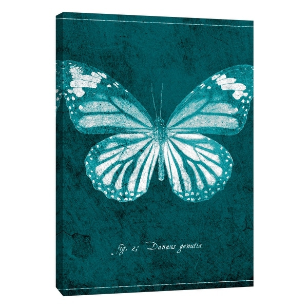 """PTM Images 9-108429 PTM Canvas Collection 10"""" x 8"""" - """"Butterfly D"""" Giclee Butterflies Art Print on Canvas"""