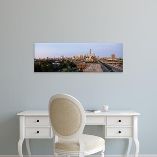 Easy Art Prints Panoramic Images's 'Skyscrapers in a city, Chicago, Cook County, Illinois, USA' Premium Canvas Art