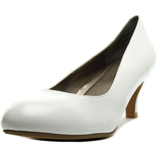 Easy Spirit Keimi Peep-Toe Leather Heels