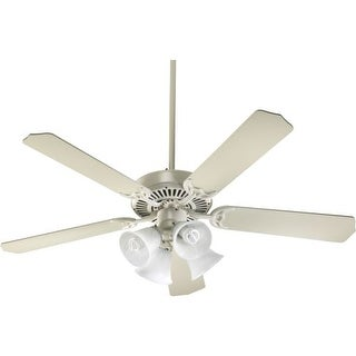 "Quorum International 77525-8167 52"" 5 Blade 4 Light Ceiling Fan - Light and Blades Included from the Capri Collection"