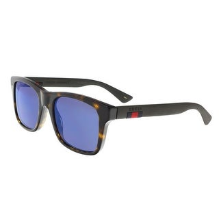 gucci 0010s. gucci gg0008s 003 havana rectangle sunglasses - 53-20-145 0010s