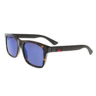 Gucci GG0008S 003 Havana Rectangle Sunglasses - 53-20-145