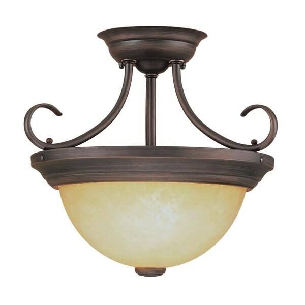 Millennium Lighting 5201 2 Light Semi-Flush Ceiling Fixture - Rubbed bronze