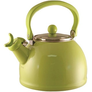 Calypso Basics by Reston Lloyd Harmonic Hum Whistling Teakettle with Glass Lid, 2.2-Quart, Lime