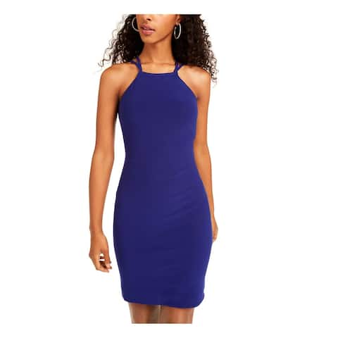 MORGAN & CO Blue Sleeveless Above The Knee Dress 0