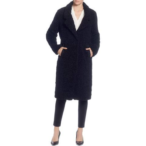 T Tahari Womens Faux Fur Coat Winter Long