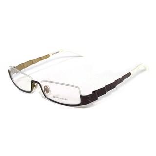Boucheron Unisex Skinny Rectangular Eyeglasses Purple/Pearl - S
