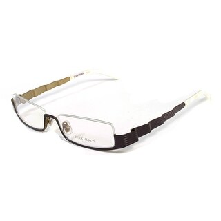 Boucheron Unisex Skinny Rectangular Eyeglasses Purple/Pearl - Black - S
