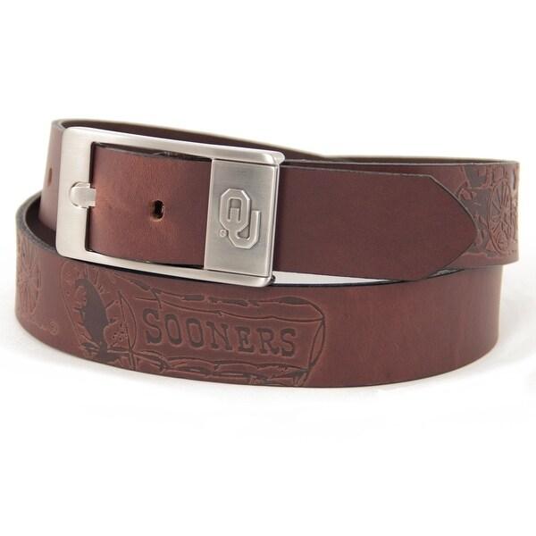 University of Oklahoma Brandish Leather Belt
