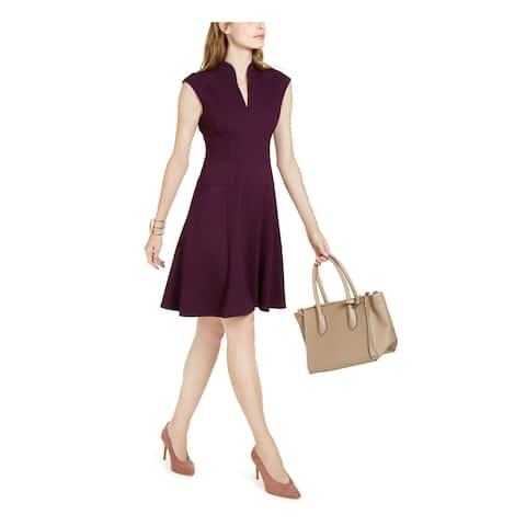 NANETTE LEPORE Purple Cap Sleeve Above The Knee Dress 4