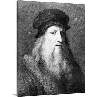 Premium Thick-Wrap Canvas entitled Portrait of Leonardo da Vinci