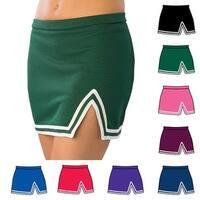 Pizzazz Multi Color A Line V Notch Cheer Uniform Skirt Adult S-2XL