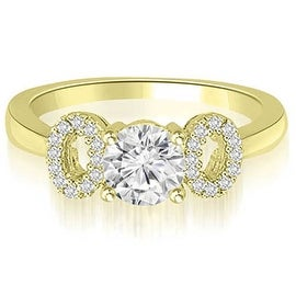 0.65 cttw. 14K Yellow Gold Round Cut Diamond Engagement Ring