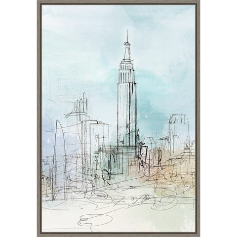 Blue London by Isabelle Z Framed Canvas Art
