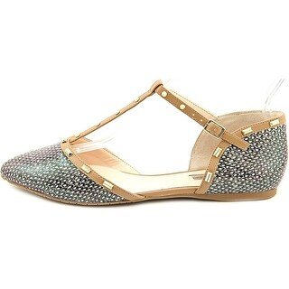 INC International Concepts Womens Candicia Pointed Toe T-Strap Ballet Flats