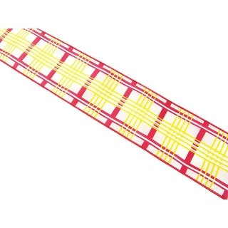 """Christmas Whimsy Red, Green and White Wired Plaid Ribbon 2.5"""" x 60 Yards"""
