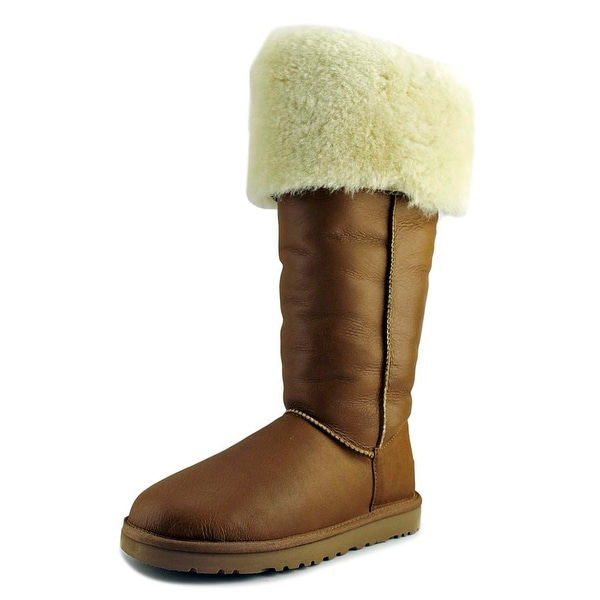 Ugg Australia Devandra Women Round Toe Leather Tan Boot