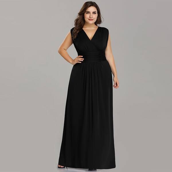 Shop Ever-Pretty Womens Empire Waist Elegant Plus Size Long ...