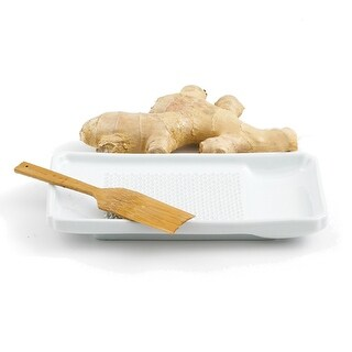 "Helen's Asian Kitchen 97033 Porcelain Ginger Grater, 7-1/8"" x 4-1/8"""