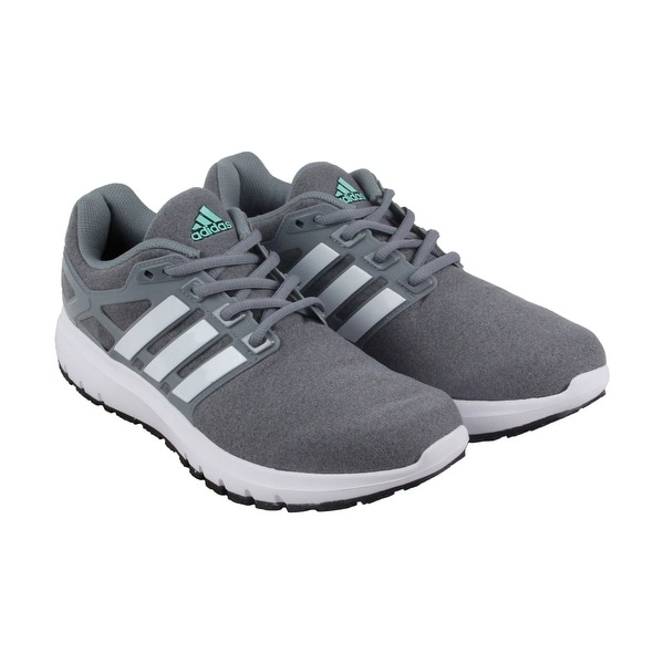 Adidas Energy Cloud Wtc Womens Gray Textile Athletic Lace Up Running Shoes