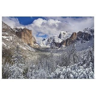 """Yosemite National Park, California after snow storm "" Poster Print"