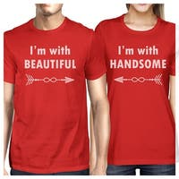 I'm With Beautiful And Handsome Couples Graphic T-Shirts Cute Gifts