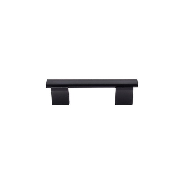 """Top Knobs M1093 Wellington 3"""" Center to Center Bar Cabinet Pull from the Bar Pulls Series - Flat Black - n/a"""