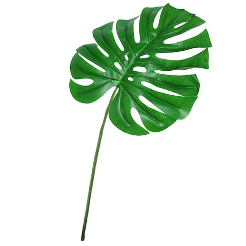 "Set of 6 Monstera Split Leaf Philodendron Stem Greenery Spray 28.5in - 28.25"" L x 12"" W x 0.25"" DP"
