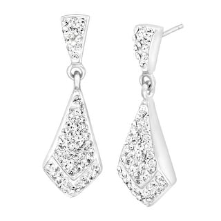 Crystaluxe White-Shape Drop Earrings with Swarovski Crystals in Sterling Silver - White|https://ak1.ostkcdn.com/images/products/is/images/direct/446e39d62d54f256eea39cbb58d2ac660fe837ed/Crystaluxe-White-Shape-Drop-Earrings-with-Swarovski-Crystals-in-Sterling-Silver.jpg?impolicy=medium