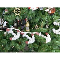 Rustic Red Decorative Triple Anchor Set Christmas Tree Ornament