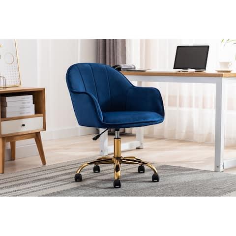 Porthos Home Xenos Swivel Velvet Office Chair