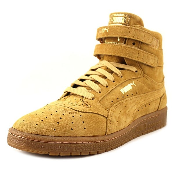 Puma Sky II Hi Nbk Women Round Toe Leather Tan Sneakers